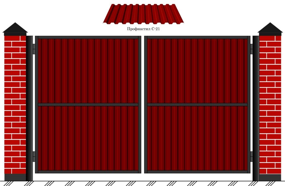 Как сделать калитку в распашных воротах из профнастила