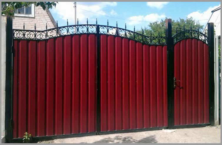 ворота и забор из профлиста